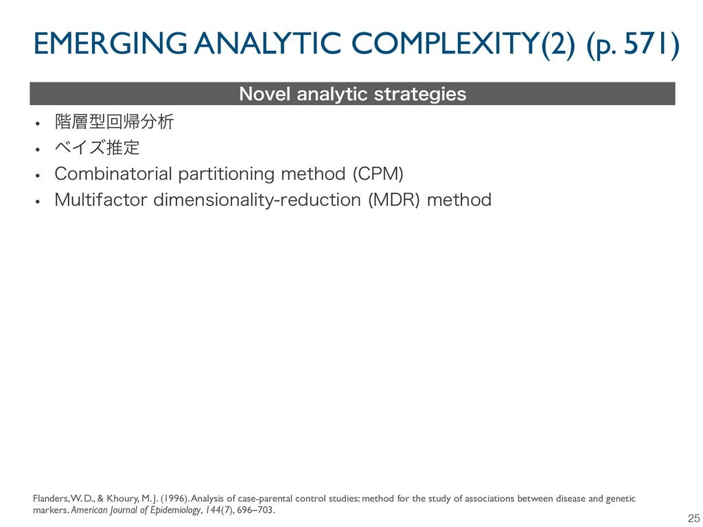 EMERGING ANALYTIC COMPLEXITY(2) (p. 571) 25 /PW...