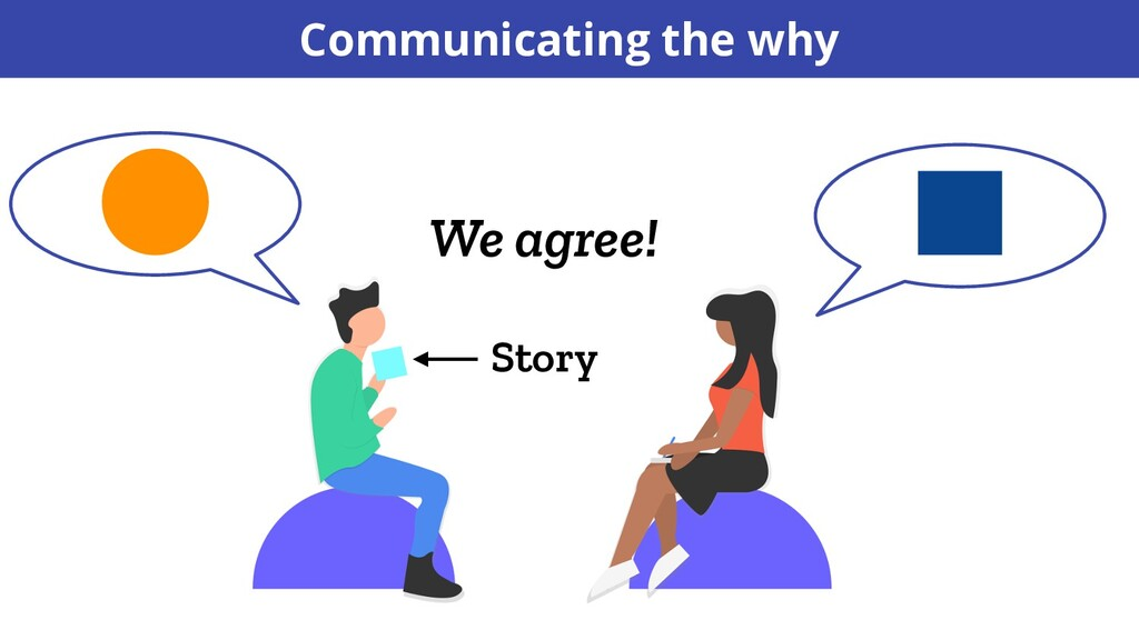 We agree! Story Communicating the why