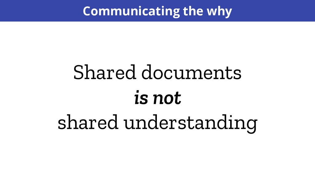 Shared documents is not shared understanding Co...