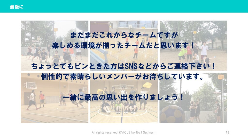 All rights reserved ©︎VICUS korfball Suginami 4...