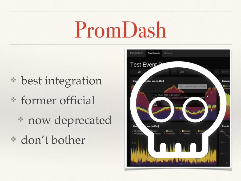 PromDash ❖ best integration ❖ former official ❖ ...