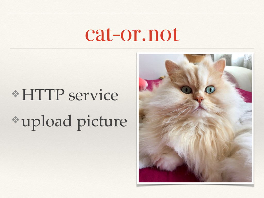 cat-or.not ❖ HTTP service ❖ upload picture