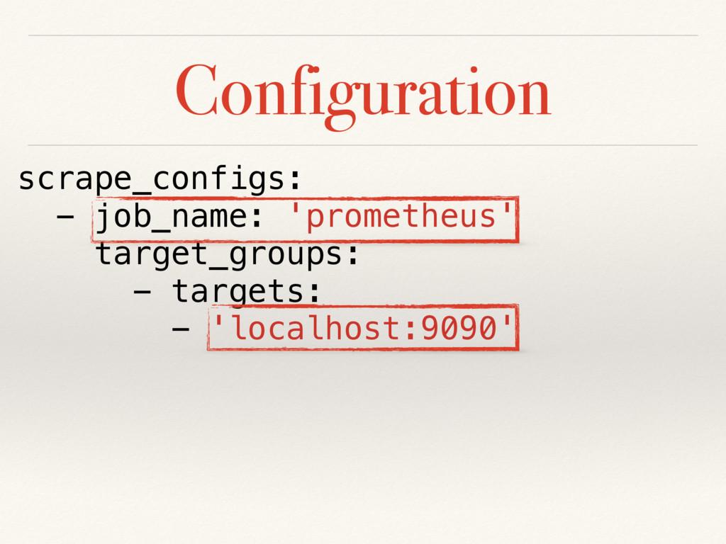 Configuration scrape_configs: - job_name: 'prom...