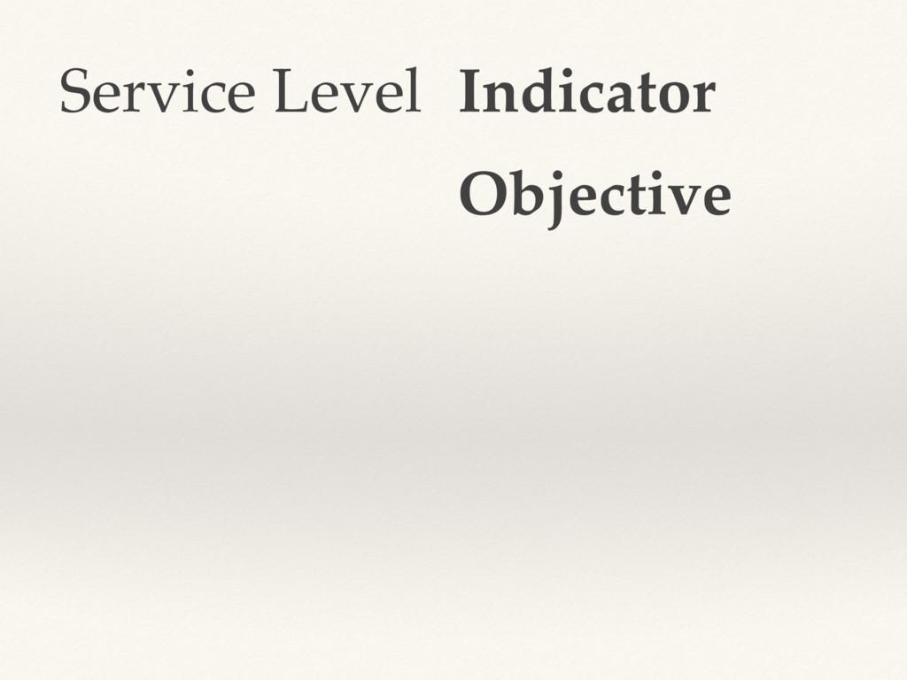 Service Level Indicator Objective