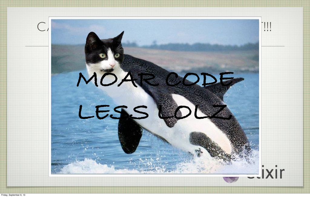 CAT-WHALE SEZ GET TO THE POINT!!! MOAR CODE LES...
