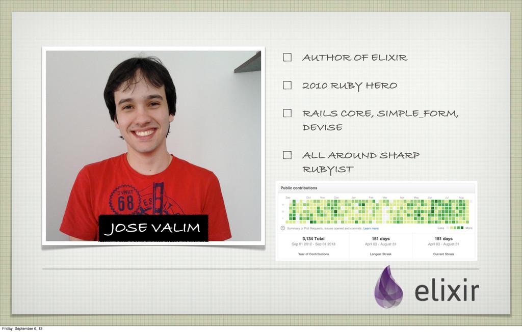JOSE VALIM AUTHOR OF ELIXIR 2010 RUBY HERO RAIL...