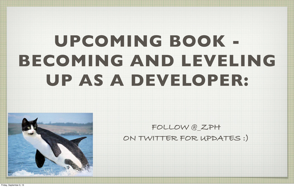UPCOMING BOOK - BECOMING AND LEVELING UP AS A D...