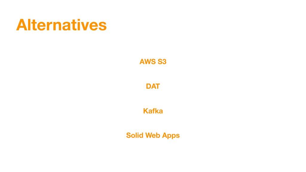 Alternatives AWS S3 DAT Kafka Solid Web Apps