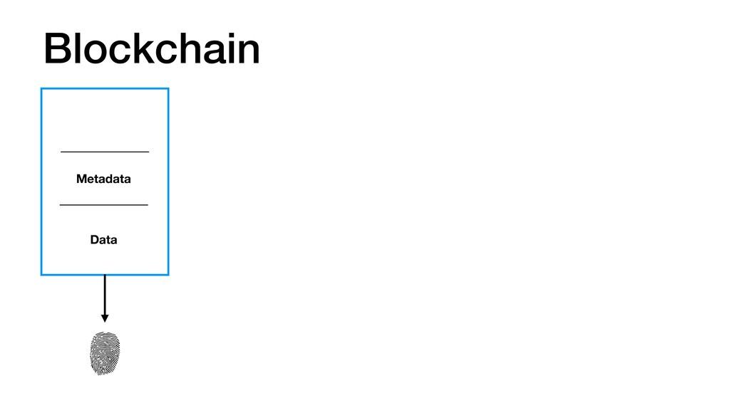 Blockchain Metadata Data