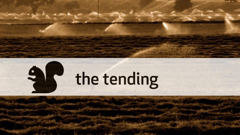 % the tending
