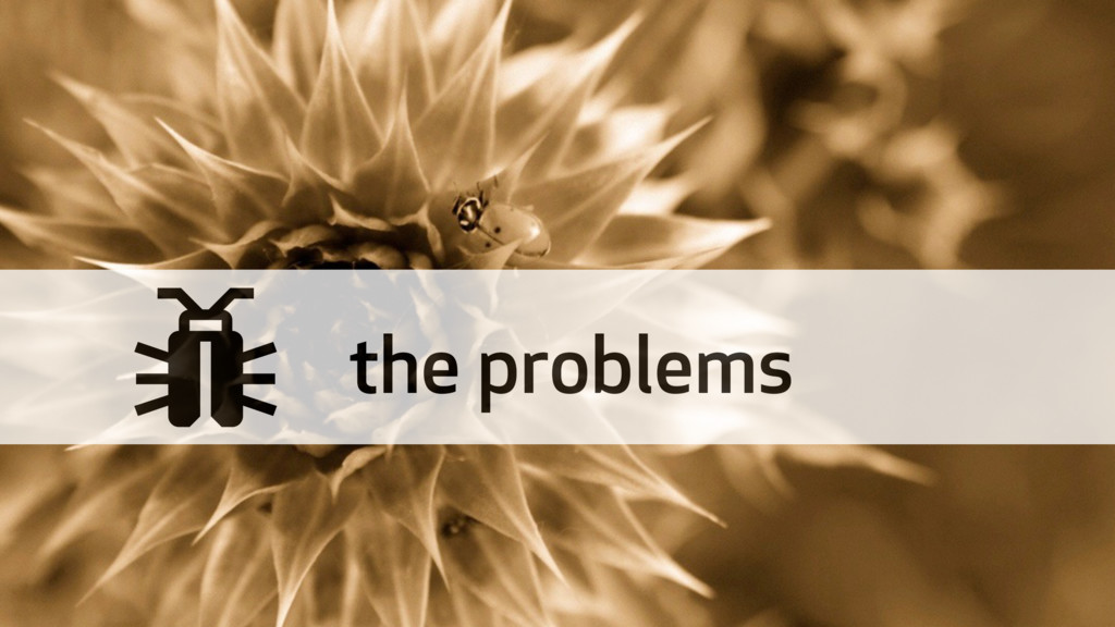 ' the problems