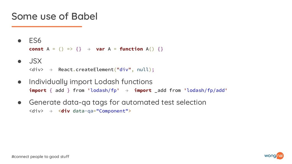 Some use of Babel #connect people to good stuff...
