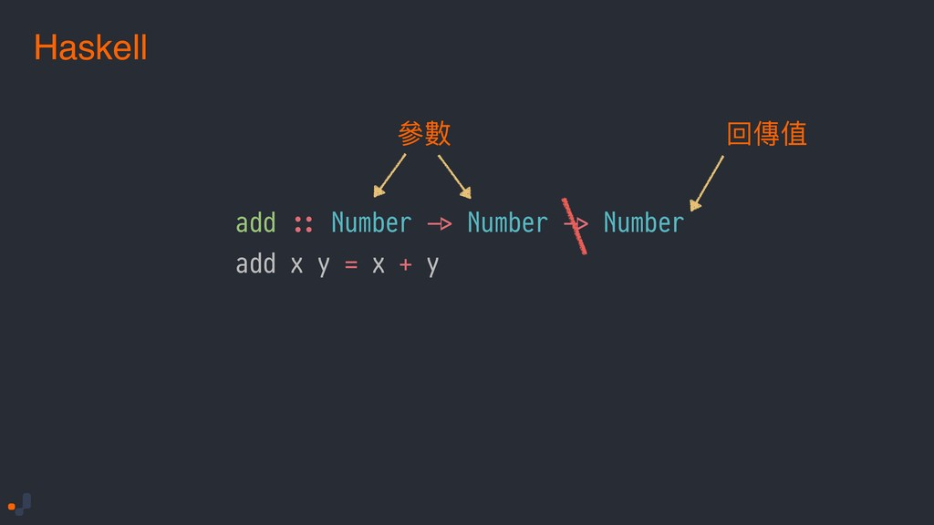 Haskell add !:: Number !-> Number !-> Number ad...