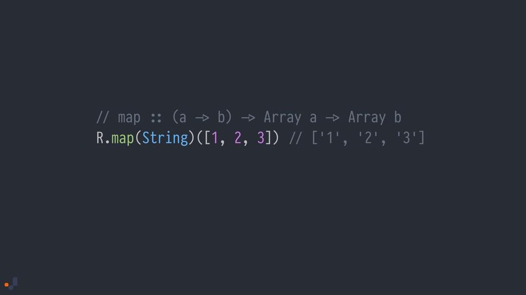 !// map !:: (a !-> b) !-> Array a !-> Array b R...