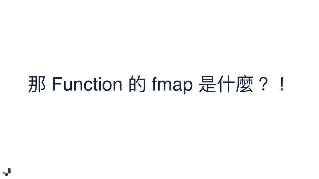 那 Function 的 fmap 是什什麼?!