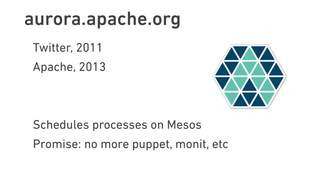 aurora.apache.org Twitter, 2011 Apache, 2013 Sc...