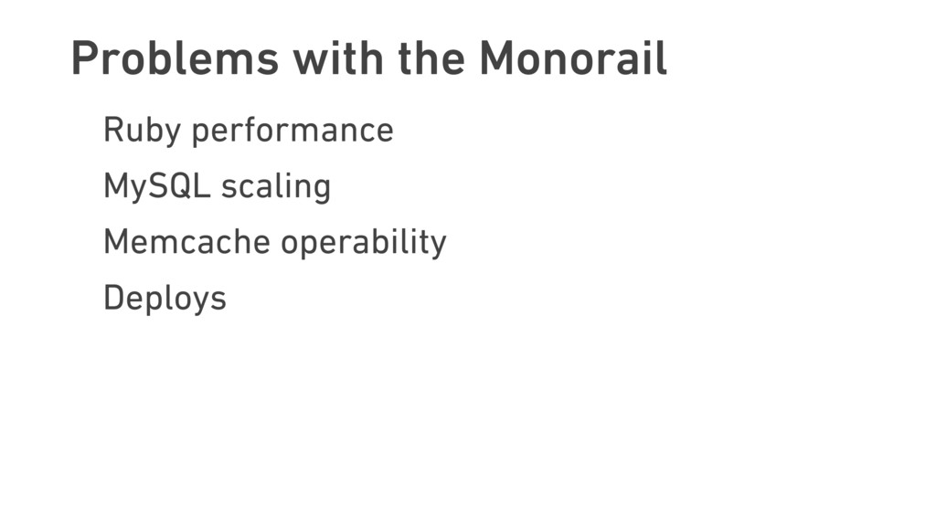Problems with the Monorail Ruby performance MyS...