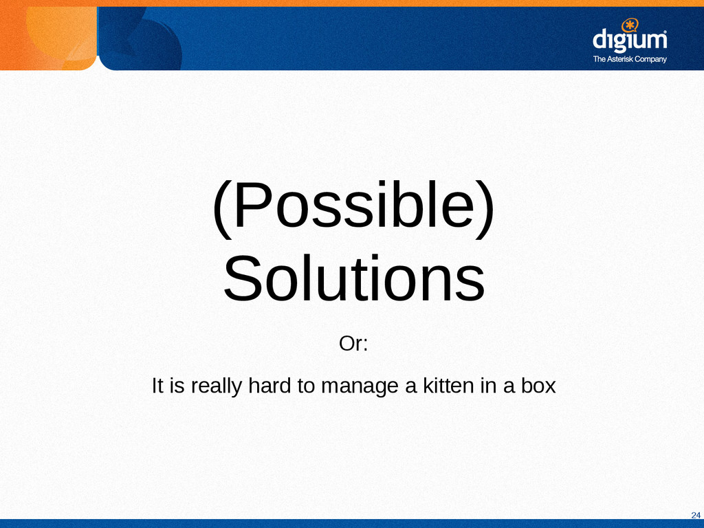24 (Possible) Solutions Or: It is really hard t...