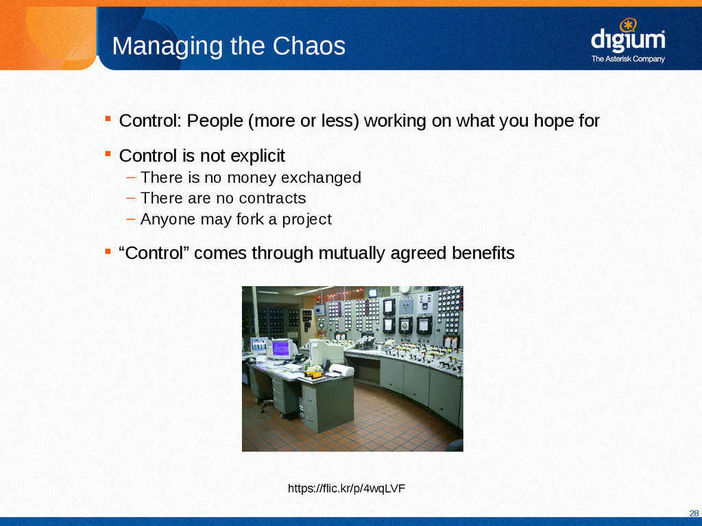28 Managing the Chaos  Control: People (more o...