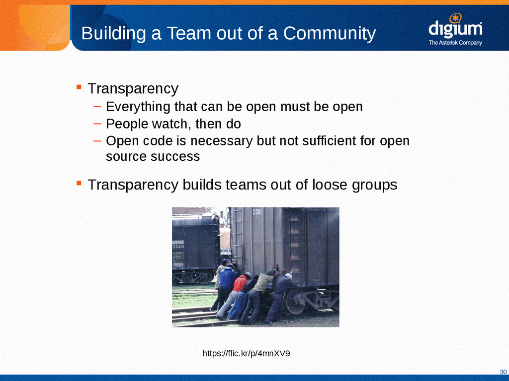 30 Building a Team out of a Community  Transpa...