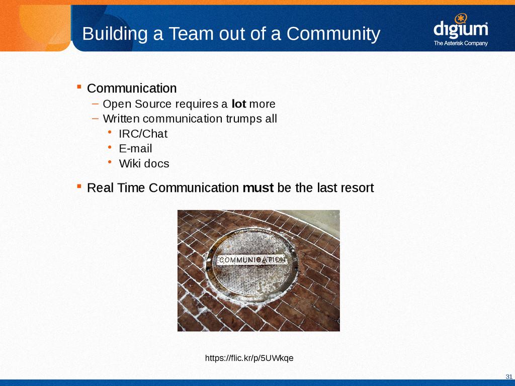31 Building a Team out of a Community  Communi...
