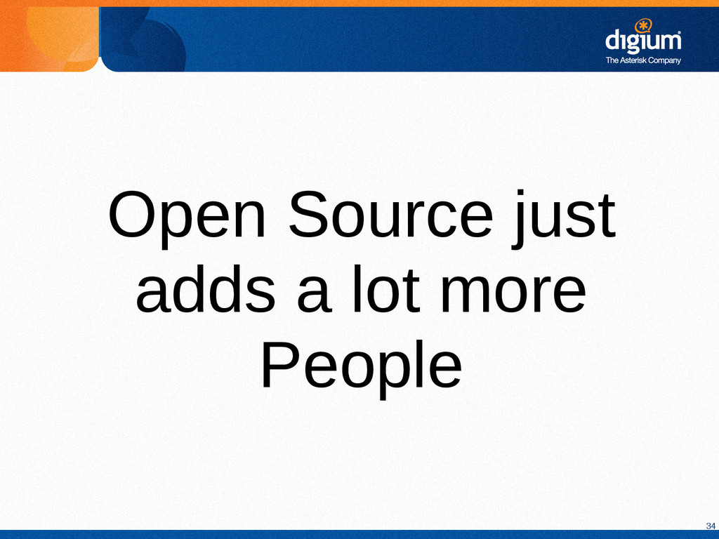 34 Open Source just adds a lot more People