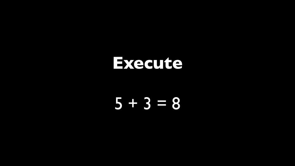 Execute 5 + 3 = 8