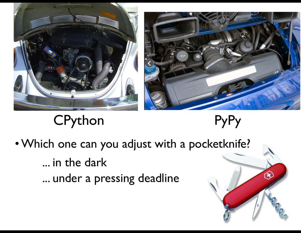 CPython PyPy • Which one can you adjust with a ...