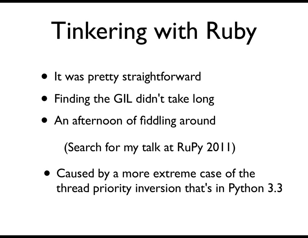 Tinkering with Ruby • It was pretty straightfor...
