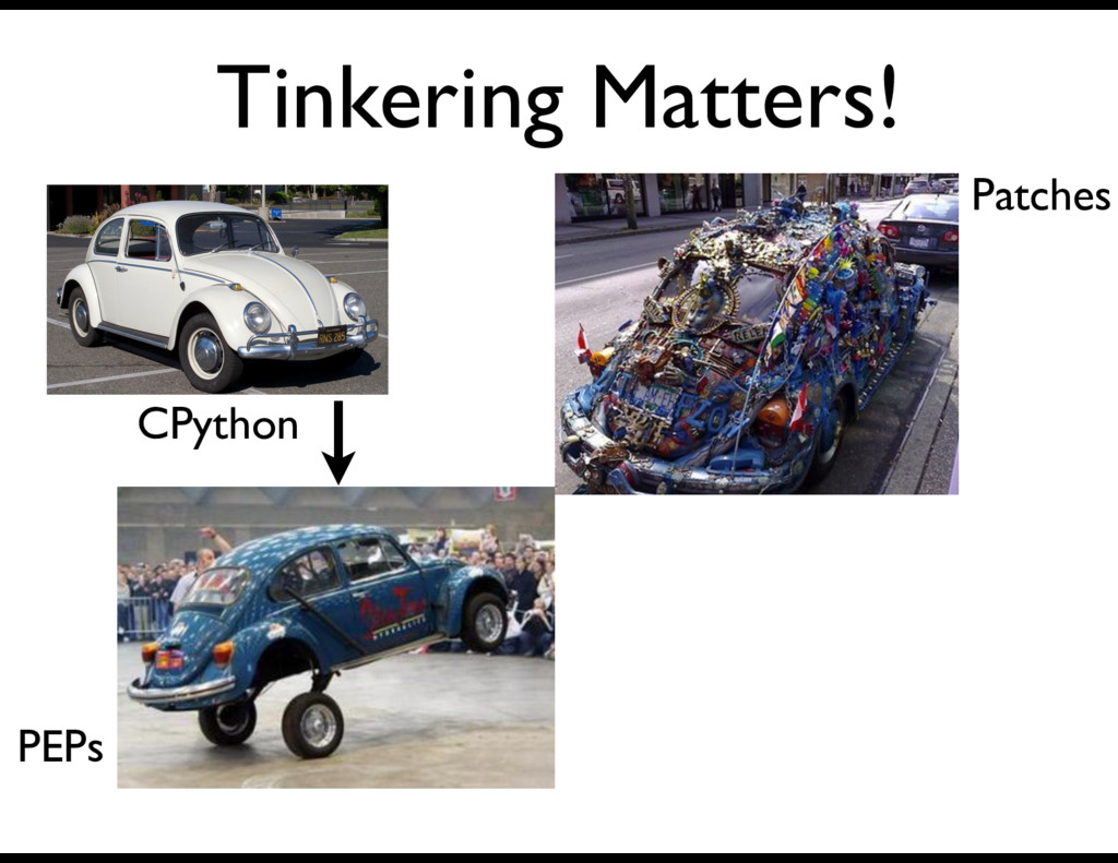 Tinkering Matters! CPython Patches PEPs