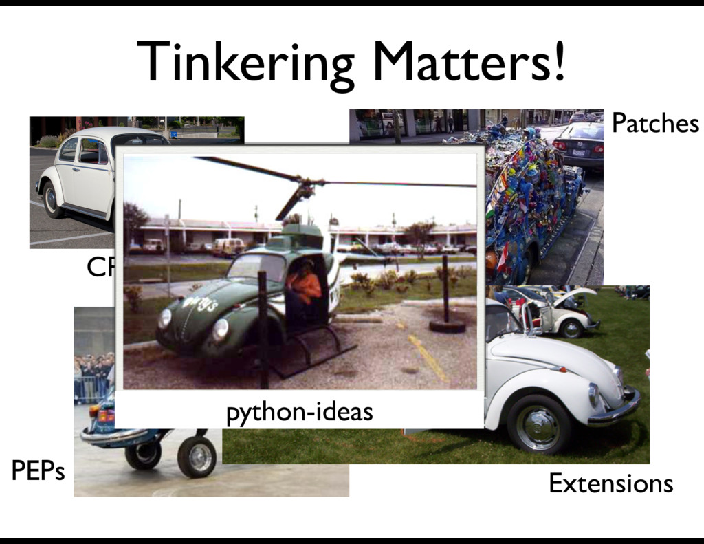 Tinkering Matters! CPython Patches PEPs Extensi...