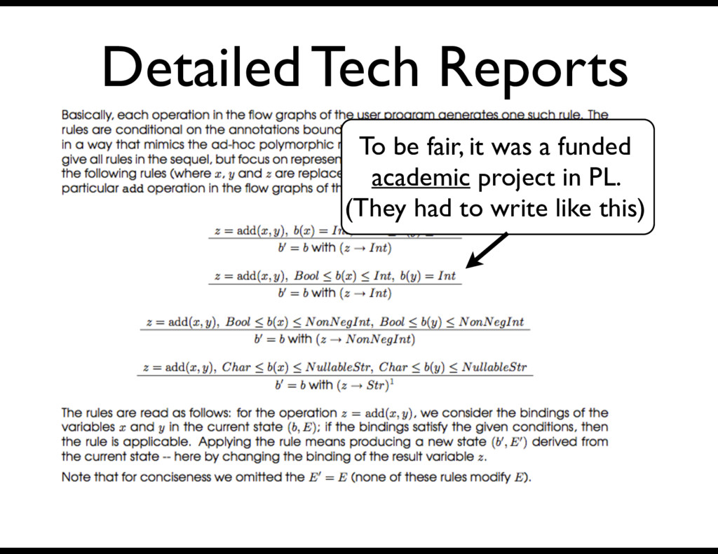 Detailed Tech Reports To be fair, it was a fund...