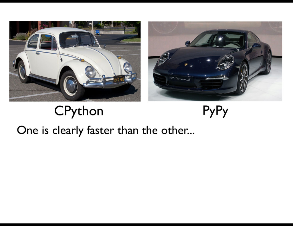 CPython PyPy One is clearly faster than the oth...