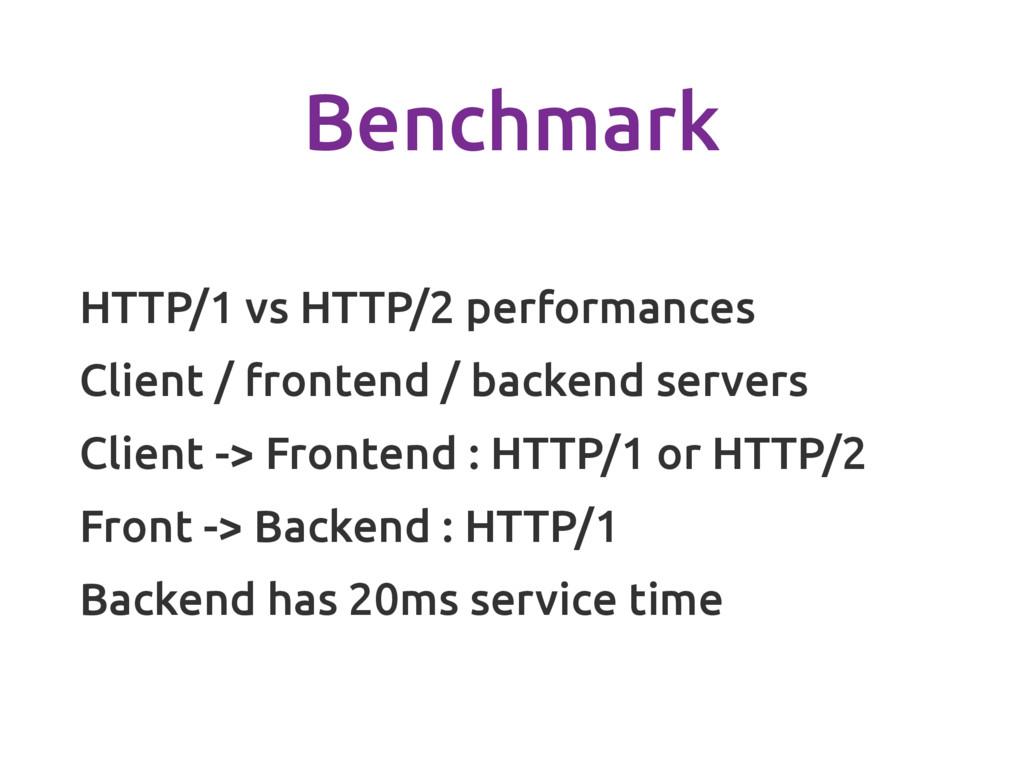 Benchmark HTTP/1 vs HTTP/2 performances Client ...