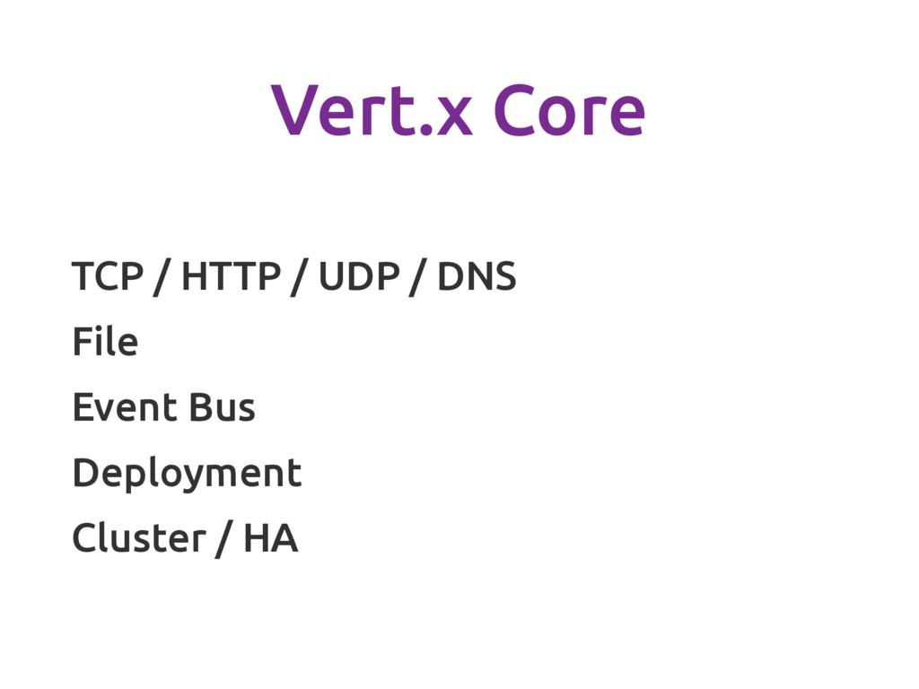 Vert.x Core TCP / HTTP / UDP / DNS File Event B...