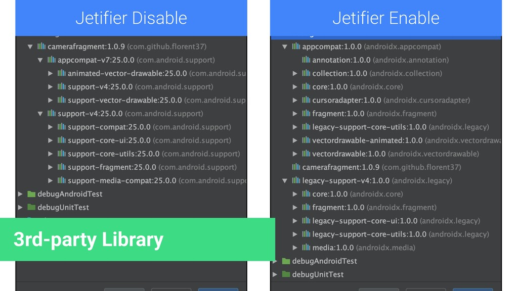 Jetifier Disable Jetifier Enable 3rd-party Libr...
