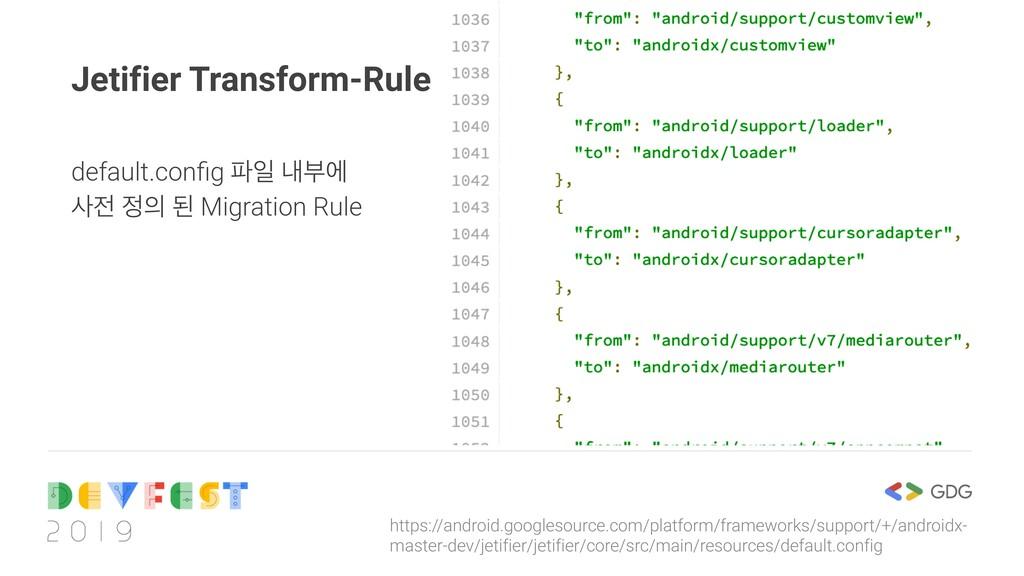 Jetifier Transform-Rule https://android.googles...