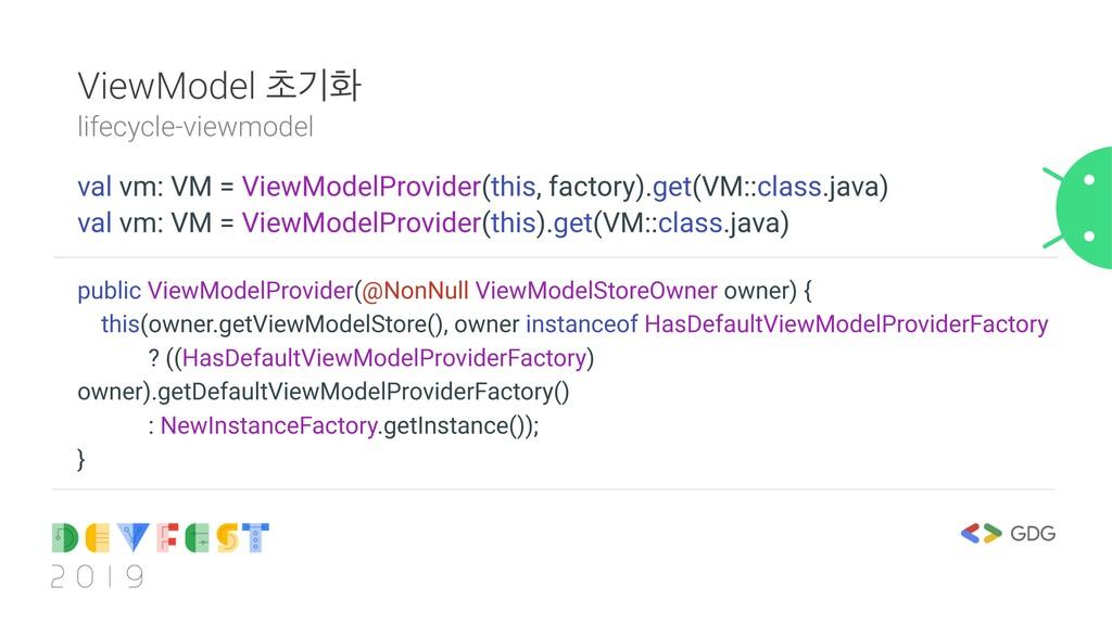 ViewModel ୡӝച lifecycle-viewmodel val vm: VM = ...