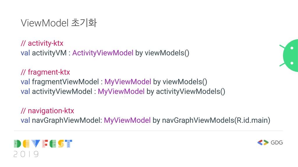 ViewModel ୡӝച // activity-ktx val activityVM : ...