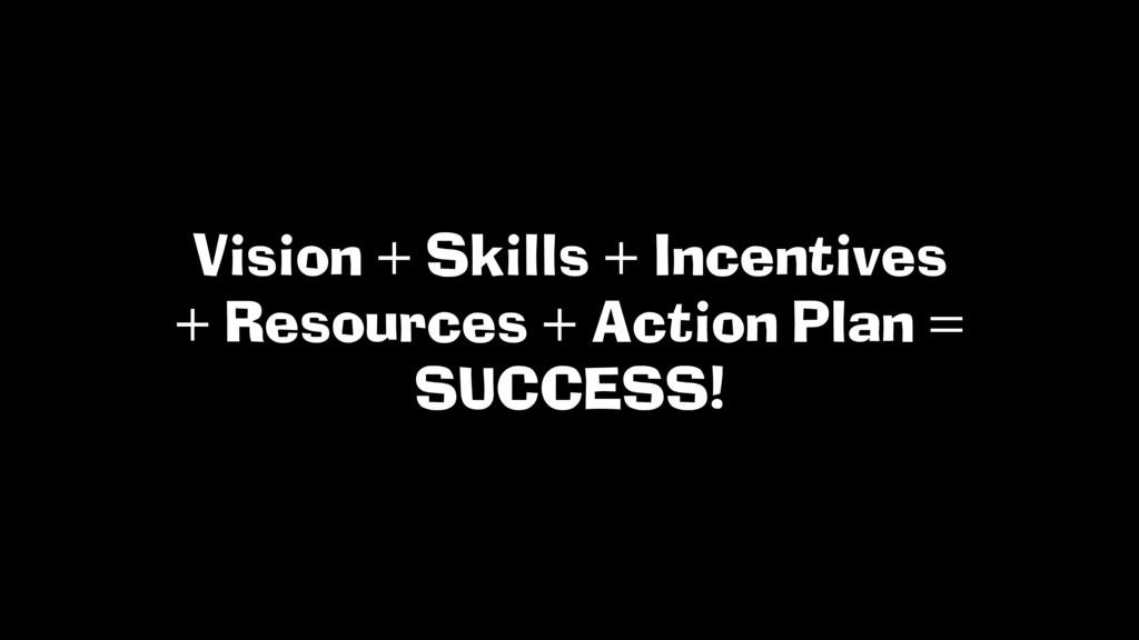 Vision + Skills + Incentives + Resources + Acti...