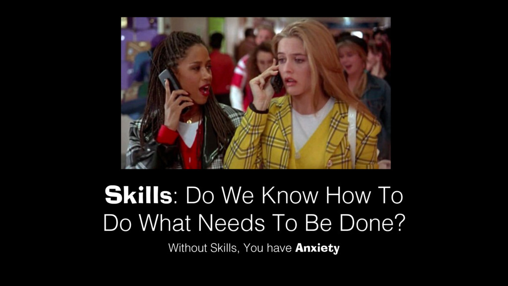 Skills: Do We Know How To Do What Needs To Be D...