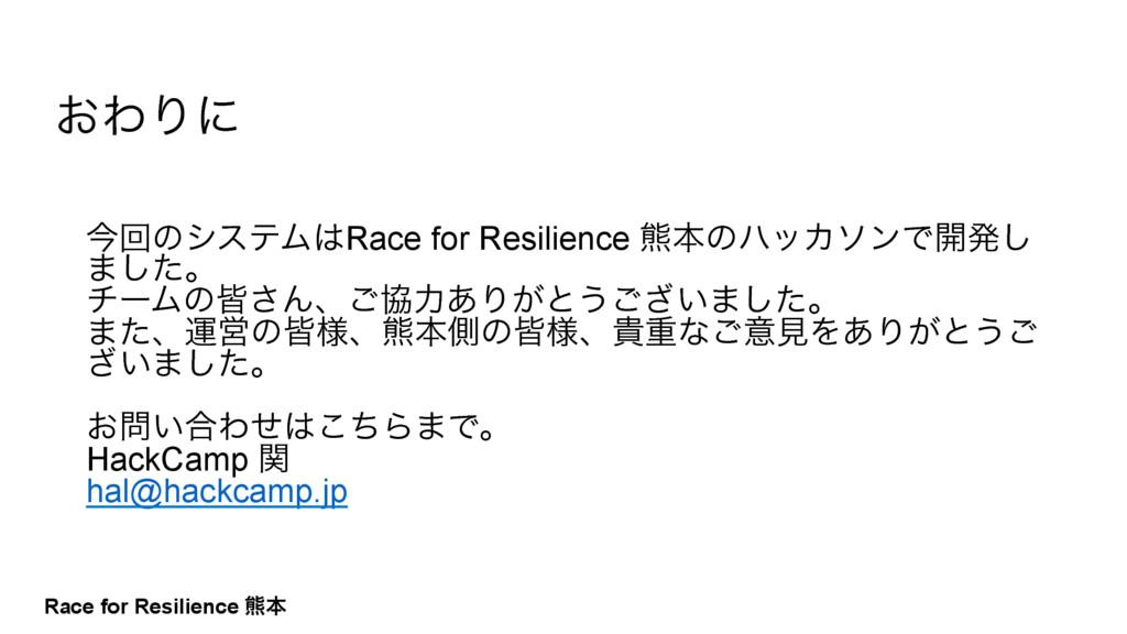Race for Resilience ۽ຊ ࠓճͷγεςϜRace for Resilie...