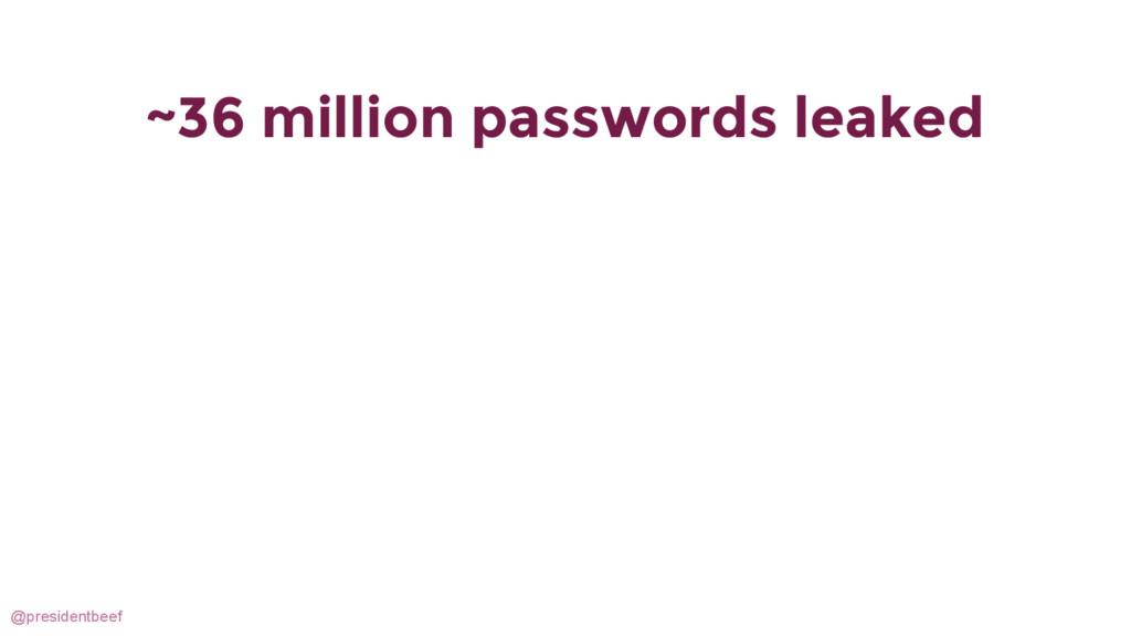 @presidentbeef ~36 million passwords leaked