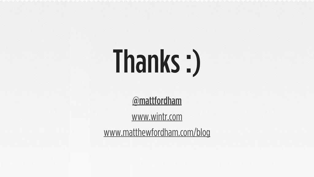 Thanks :) @mattfordham www.wintr.com www.matthe...