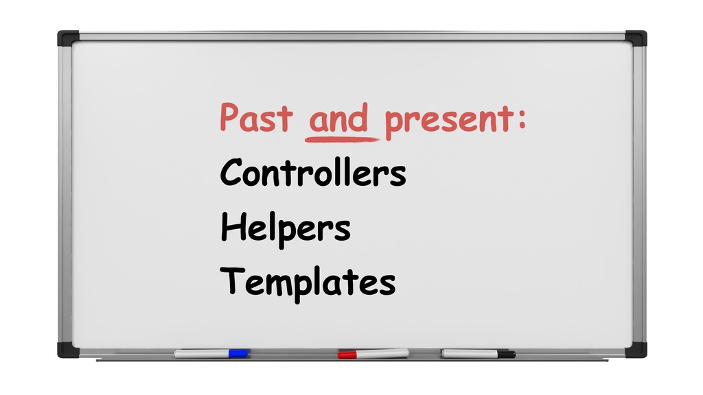 Controllers Helpers Templates Past and present: