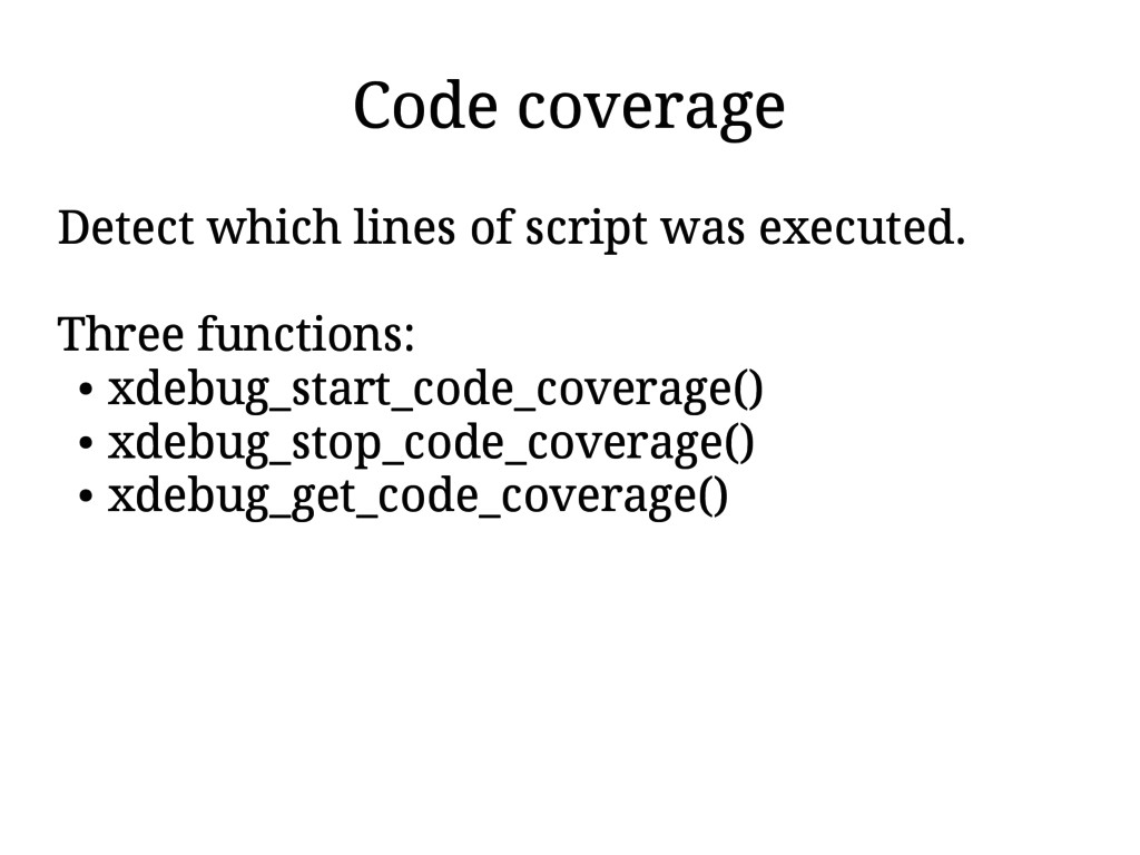 Code coverage Detect which lines of script was ...