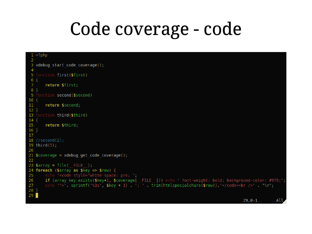 Code coverage - code