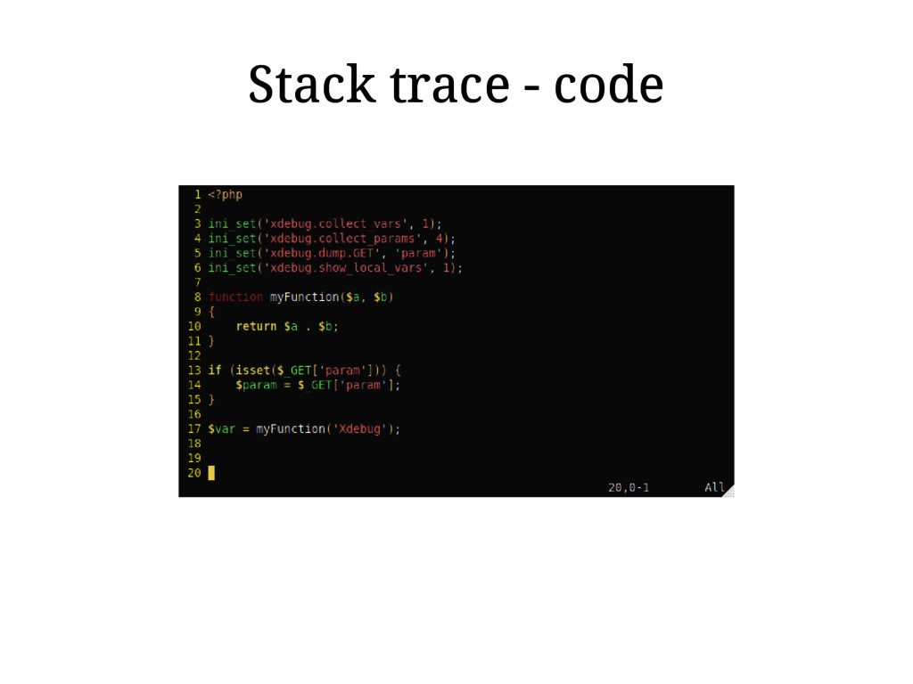 Stack trace - code