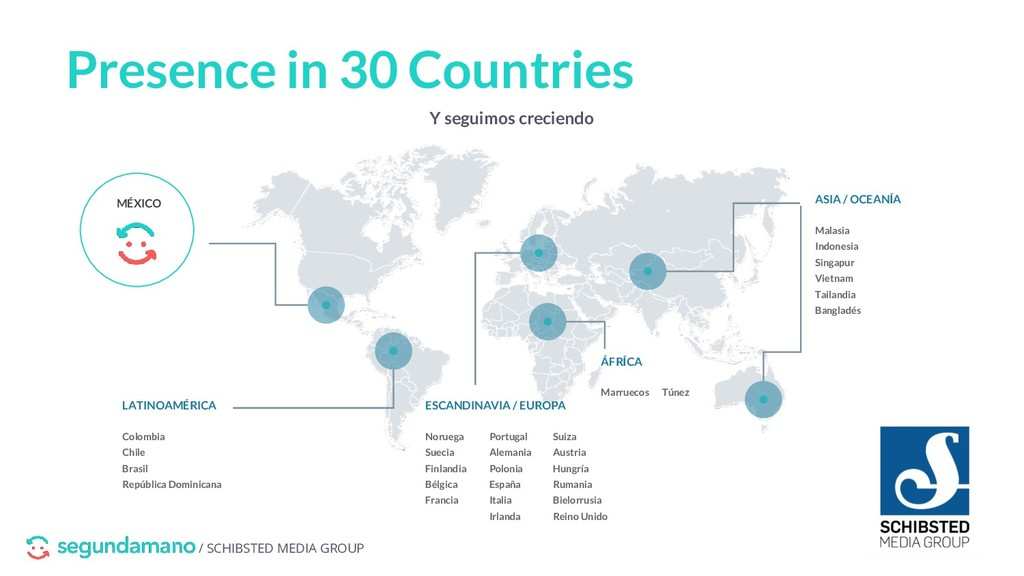 / SCHIBSTED MEDIA GROUP Presence in 30 Countrie...