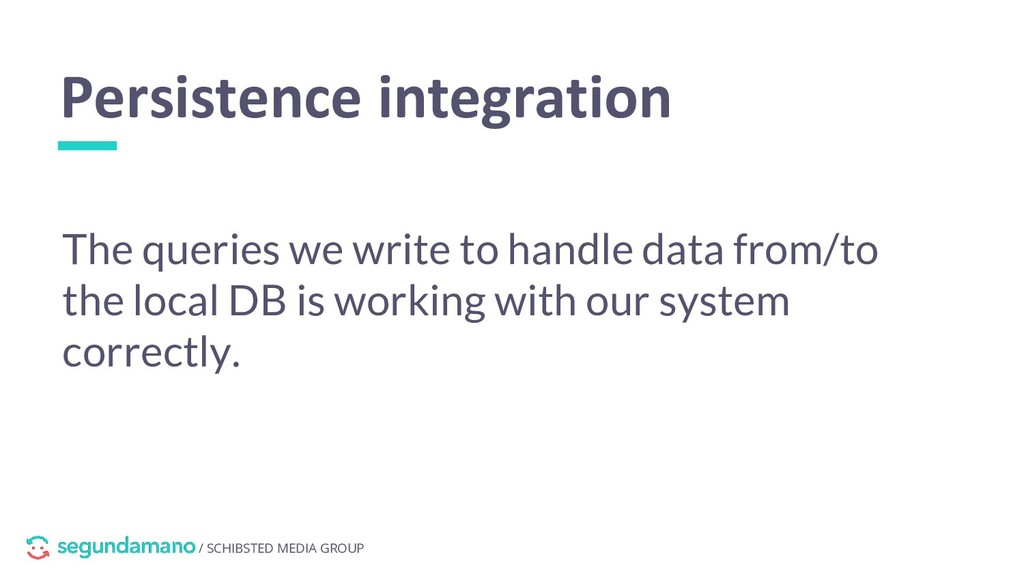 / SCHIBSTED MEDIA GROUP Persistence integration...